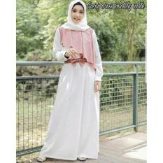 BAJU MUSLIM GAMIS GIERLY DRESS GAMIS BALOTELLY PUTIH
