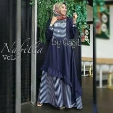 Baju Muslim Gamis  Nabila Dress Vol3 Dress Baloteli Panjang Hijab Casual Pakaian Wanita Hijab Modern