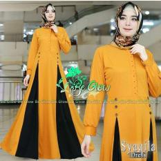 Jual Baju Muslim Gamis Syaqila Dress Baloteli Panjang Hijab Casual Pakaian Wanita Hijab Modern Rk Murah