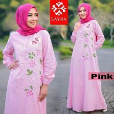 Baju Muslim Gamis Zahra Stripe Dress Murah