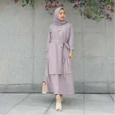 Baju Muslim Carey Tunik Balotelly Baju Atasan Wanita Muslim Panjang Pakaian Kerja Santai Casual