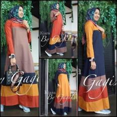 Baju Muslim Kiara Dress Gamis Panjang Hijab Casual Pakaian Wanita Hijab Modern