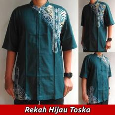 baju-muslim-koko-lengan-pendek-modern-motif-rekah-warna-hijau-tosca-2968-32649205-7a3ec3009d53b8b93dbaa82c8a7ec7f1-catalog_233 10 Harga Baju Koko Hijau Tosca Termurah waktu ini