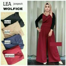 Baju Muslim Lea Jumpsuit Wolfice Gamis Panjang Hijab Casual Pakaian Wanita Hijab Modern