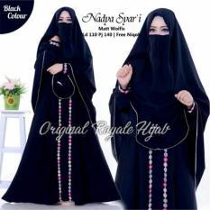 Baju Muslim Original Gamis Nadya Syari Dress Baju Panjang Muslim Casual Wanita Pakaian Hijab Modern Modis Trendy Terbaru 2018 Gamis Dress Diskon