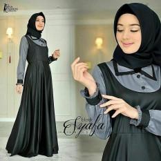 Baju Muslim Original Gamis Syafa Dress Baju Panjang Muslim Casual Wanita Pakaian Hijab Modern Modis Trendy Terbaru 2018