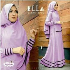 Baju Muslim Syfa Rose Lavender Syari Gamis Maxi Dres Pakaian Hijab