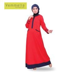 Baju Muslim Wanita / Gamis Vemmella Gemma 05 Merah Cabe / by Qirani