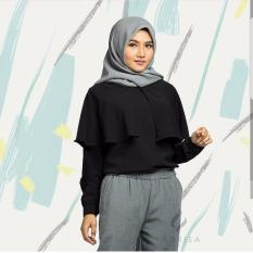 Baju Muslim Wanita Longslevee Rumble Hitam Best Seller