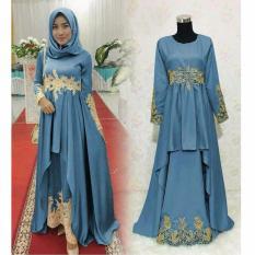 Baju Muslimah Pesta Latin - BIRU