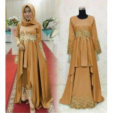 Baju Muslimah Pesta Latin - GOLD