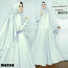Baju muslim/pakaian wanita muslim/Gamis set Mozza syari Matt Balotelli Embos HQ size XL (15 color)