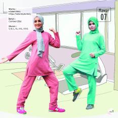 Baju Olahraga Qirani Mawar 07 Toska