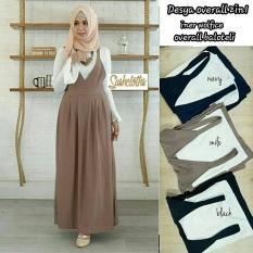 Baju Orginal Desya Overall 2 in 1 Celana + Atasan Wanita Muslim Modern Jumsuit Panjang Muslimah Simple Trend 2018