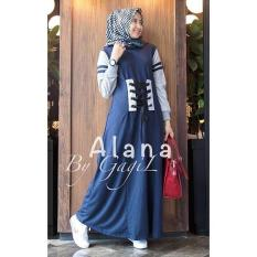 Baju Original Alana Dress Balotely Gamis Panjang Hijab Casual Pakaian Wanita Muslim Modern Maxy Terbaru Tahun 2018
