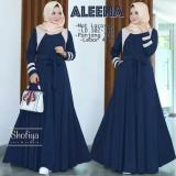 Toko Baju Original Aleena Dress Baju Blus Atasan Wanita Baju Kerja Blouse Kemeja Perempuan Pakaian Kerja Baju Muslim Warna Navy Lengkap
