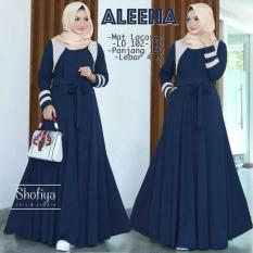 Promo Toko Baju Original Aleena Dress Baju Blus Atasan Wanita Baju Kerja Blouse Kemeja Perempuan Pakaian Kerja Baju Muslim Warna Navy