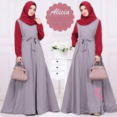 Baju Original Alicia Dress Balotely Gamis Panjang Hijab Casual Pakaian Wanita Muslim Modern Maxy Terbaru Tahun 2018