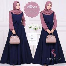 Jual Beli Online Baju Original Alicia Dress Balotely Gamis Panjang Hijab Casual Pakaian Wanita Muslim Modern Maxy Terbaru Tahun 2018