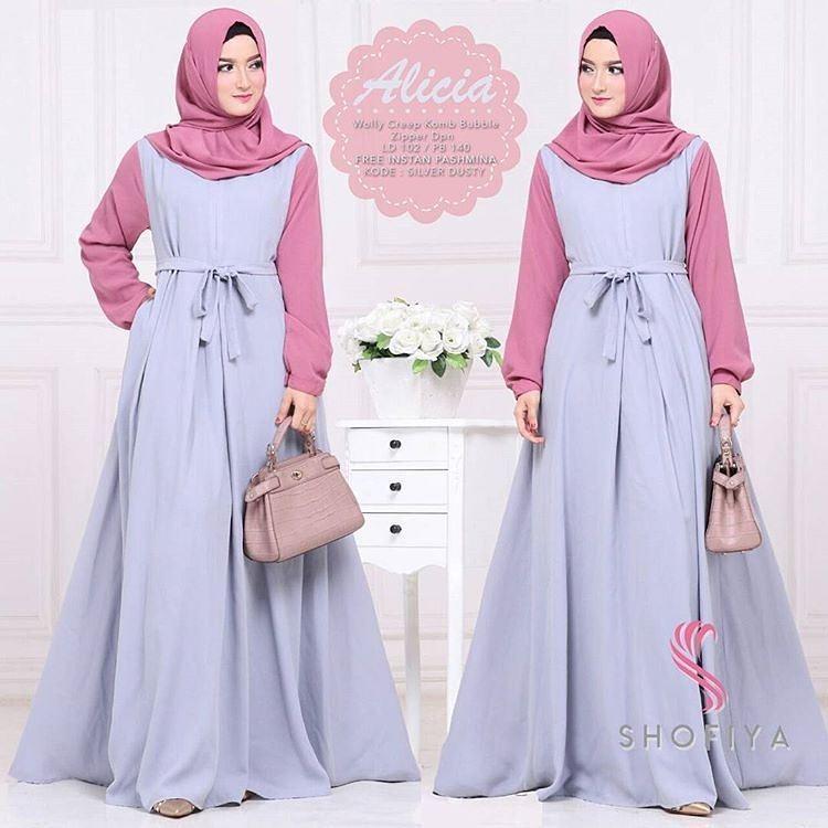 Baju Original Alicia Dress Balotely Gamis Panjang Hijab Casual Pakaian  Wanita Muslim Modern Maxy Terbaru Tahun c06e35ea1d