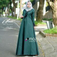 Baju Original Alma Dress Balotely Gamis Panjang Hijab Casual Pakaian Wanita Muslim Modern Maxy Terbaru Tahun 2018