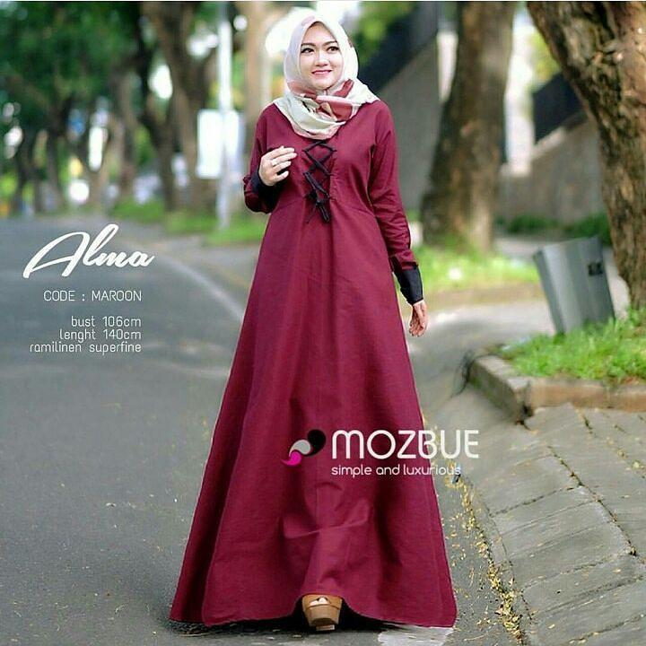 Baju Original Alma Dress Balotely Gamis Panjang Hijab Casual Pakaian Wanita  Muslim Modern Maxy Terbaru Tahun 8414796aef