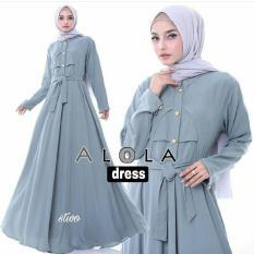 Review Baju Original Alola Dress Balotelly Gamis Panjang Hijab Casual Pakaian Wanita Hijab Modern Di Jawa Barat