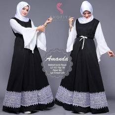 Baju Original Amanda Dress Balotely Gamis Panjang Hijab Casual Pakaian Wanita Muslim Modern Maxy Terbaru Tahun 2018