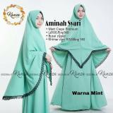 Beli Baju Original Aminah Syari Gamis Dress Muslimah Baju Panjang Wanita Hijab Trendy Pakaian Cewek Modern Kredit