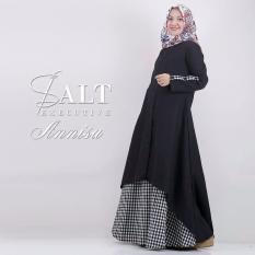 Baju Original Annisa Dress Balotelly Gamis Panjang Hijab Casual Pakaian Wanita Hijab Modern WarnaBlack