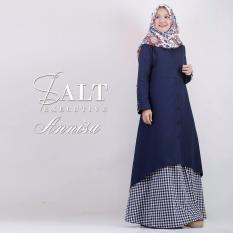 Baju Original Annisa Dress Balotelly Gamis Panjang Hijab Casual Pakaian Wanita Hijab Modern WarnaNavy