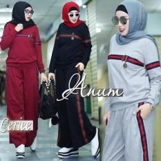 Baju Original Anum Set Kaos Combed 30s Baju Olah Raga Casual Pakaian Wanita Hijab Modern