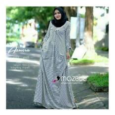 Baju Original Azuera Dress Kaos Spandek Gamis Panjang Hijab Casual Pakaian Wanita Hijab Modern