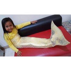 Baju Original Baju Renang Baju Putri Duyung Kostum Mermaid Pakaian Anak Ekor Ikan Kuning