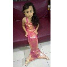 Diskon Baju Original Baju Renang Baju Putri Duyung Kostum Mermaid Pakaian Anak Ekor Ikan Pink Jawa Barat