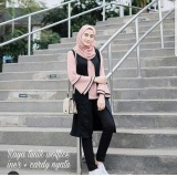 Beli Baju Original Blouse Raya Tunik Wolfice Iner Plus Cardi Menyatu Yatu Baju Panjang Wanita Muslimah Pakaian Hijab Modern Casual Simple Trendy Warna Salem Baru