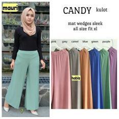 Promo Baju Original Candy Kulot Pants Kaos Jersey Super Celana Wanita Muslim Modern Hijab Casual Modern Warna Blue Baju Original
