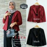 Beli Baju Original Cardigan Z Blazer Cardie Outer Baju Muslim Wanita Casual Hijab Cardi Modern Trendy Warna Maroon Online Murah