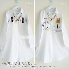Baju Original Catty White Tunik Wolfice Atasan Wanita Muslim Modern Pakaian  Cewek Santai Simple Casual Trend 78964174cc