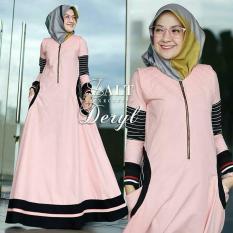 Baju Original Deryl Dress Balotelly Gamis Panjang Hijab Casual Pakaian Wanita Terbaru Tahun 2018