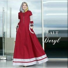 Baju Original Deryl dress Balotely Gamis Panjang Hijab Casual Pakaian Wanita Muslim Modern Maxy Terbaru Tahun 2018