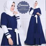 Jual Baju Original Dress Corinna Maxy Gamis Wolfice Baju Panjang Wanita Modern Modis Trendy Casual Lucu Warna Navy Baju Original Branded