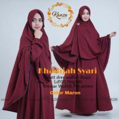 Baju Original Dress Khadijah Syar'i Gamis Baju Panjang Casual Wanita Hijab Baju Pesta Modern Trendy Warna Maroon