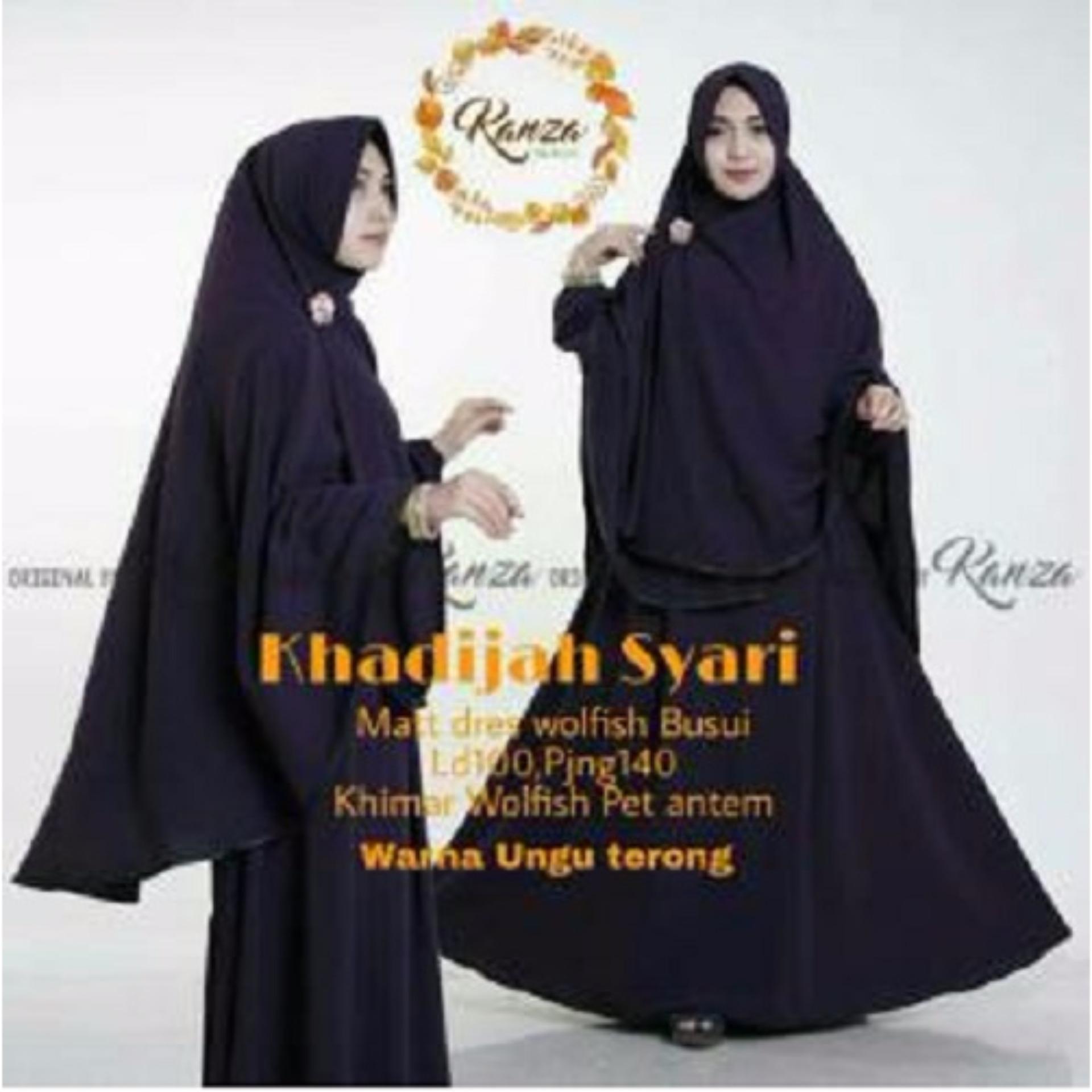 Model Elegan Baju Original Dress Khadijah Syar i Gamis Baju Panjang Casual Wanita Hijab Baju Pesta Modern