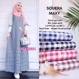 Toko Jual Baju Original Dress New Squera Maxy Dress Katun Baju Panjang Wanita Muslim Modern Casual Trendy Modis Warna Blue
