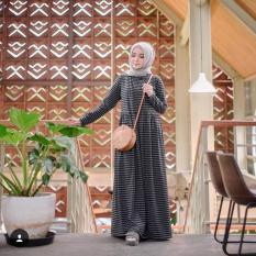 Baju Original Eisha Dress Spandek Gamis Panjang Hijab Casual Pakaian Wanita Terbaru Tahun 2018