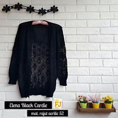 Review Baju Original Elena Black Cardie Rajut Acrilic 52 Cardigan Rajut Baju Hangat Rajut Premium Tebal Outer Rajut Di Jawa Barat