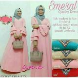 Toko Baju Original Emeral Dress Gamis Muslimah Syari Baju Panjang Wanita Hijab Trendy Pakaian Cewek Modern Toska Di Jawa Barat