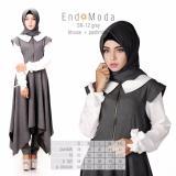 Cara Beli Baju Original Endo Moda Blouse Atasan Sn 12 Kaos Wanita Baju Muslim Tunik Kemeja Kaos Grey