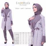 Baju Original Endo Moda Setelan Atasan Dan Bawahan Yd 22 Kaos Wanita Baju Muslim Tunik Kemeja Kaos Brown Jawa Barat Diskon
